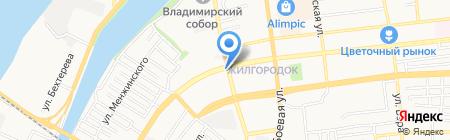 Гамма на карте Астрахани
