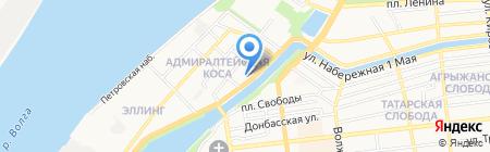 Береговой учебно-тренажерный центр подготовки плавсостава на карте Астрахани