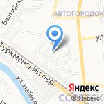 Белая полоса на карте Астрахани