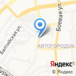 Серген на карте Астрахани