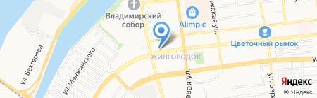 Реганд на карте Астрахани