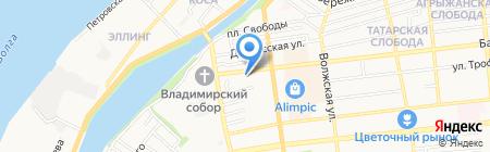 Пальто на Бакинской на карте Астрахани