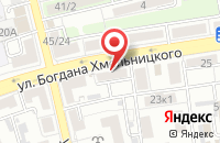 Схема проезда до компании За Окном в Астрахани