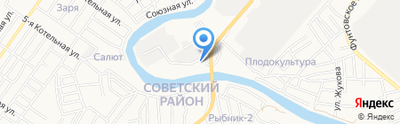 Принцесса Итиль на карте Астрахани