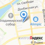 Атель-Е на карте Астрахани