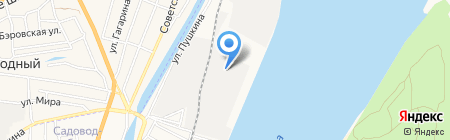 Причал АСВ на карте Астрахани