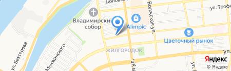 Дарина на карте Астрахани