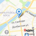 ААБ-Салют на карте Астрахани