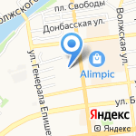 Вива на карте Астрахани