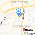 Автомойка на Пороховой на карте Астрахани