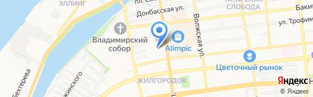 Волга-Терминал на карте Астрахани