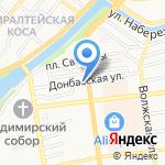 Стражник на карте Астрахани