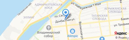 АКБ МОСОБЛБАНК на карте Астрахани