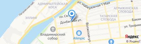 Жеодис Кальберсон Рус на карте Астрахани