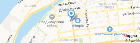 ЗОВ на карте Астрахани