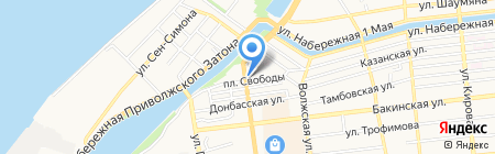 Гильдия на карте Астрахани