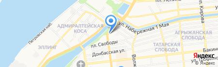 Даф на карте Астрахани