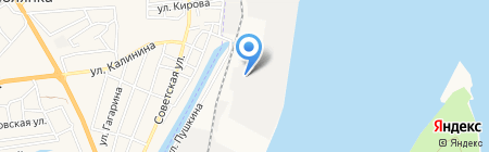 Астраханский порт на карте Астрахани