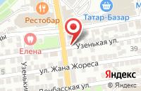 Схема проезда до компании Коттеджный городок в Астрахани