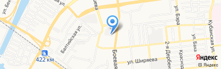Три Самурая на карте Астрахани