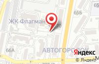 Схема проезда до компании Ветеран в Астрахани