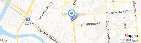 Нова на карте Астрахани
