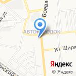 Сороконожка на карте Астрахани