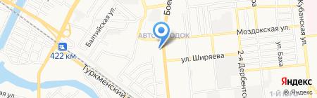 Пункт обслуживания клиентов №45 на карте Астрахани