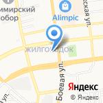 Корвет на карте Астрахани