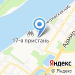 Яна на карте Астрахани