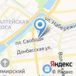 Лапти на карте Астрахани