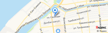 Магазин зоотоваров на карте Астрахани