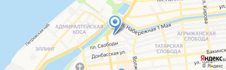 Каламбур на карте Астрахани