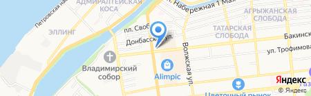 Цветочный рай на карте Астрахани