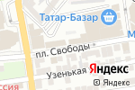 Схема проезда до компании Магазин текстиля для дома в Астрахани