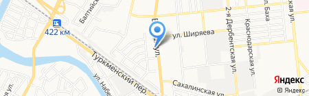 Магазин-ателье на карте Астрахани