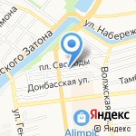 Балу на карте Астрахани