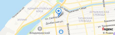 Оазис на карте Астрахани