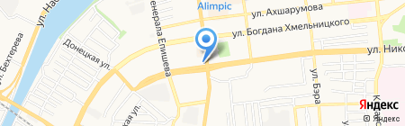 Тритон на карте Астрахани
