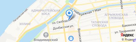 Алевтина на карте Астрахани