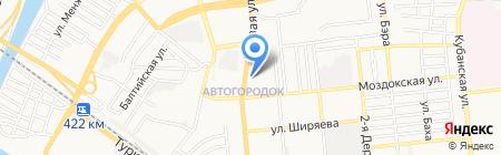 Классик на карте Астрахани