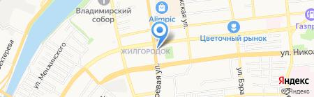 Магазин по продаже мяса на Боевой на карте Астрахани
