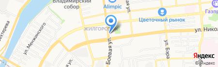 Ермолинские полуфабрикаты на карте Астрахани