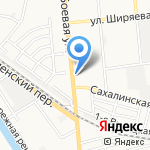 Дилижанс на карте Астрахани