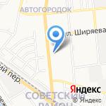 Элеганс на карте Астрахани