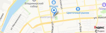 Рубль Бум на карте Астрахани