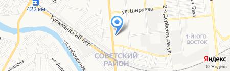 Авто номер 1 на карте Астрахани
