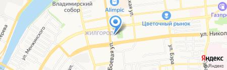 Жасмин на карте Астрахани
