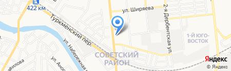 Капитан на карте Астрахани