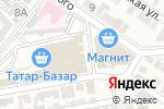 Схема проезда до компании Киоск по продаже фруктов и овощей в Астрахани